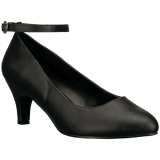 Black Leatherette 8 cm DIVINE-431W Pumps with low heels