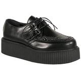 Black Leatherette V-CREEPER-502 Platform Mens Creepers Shoes