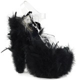 Black Marabou Feathers 18 cm ADORE-708F Pole dancing high heels