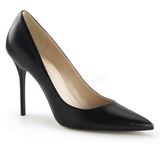 Black Matte 10 cm CLASSIQUE-20 pointed toe stiletto pumps