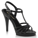 Black Matte 12 cm FLAIR-420 Womens High Heel Sandals