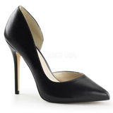 Black Matte 13 cm AMUSE-22 Low Heeled Classic Pumps Shoes