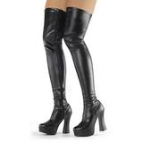 Black Matte 13 cm ELECTRA-3000Z Thigh High Boots for Men