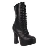 Black Matte 13 cm Pleaser ELECTRA-1020 Platform Ankle Calf Boots