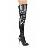 Black Matte 13 cm SEDUCE-3000 overknee high heel boots
