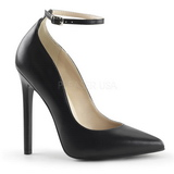 Black Matte 13 cm SEXY-23 Low Heeled Classic Pumps Shoes