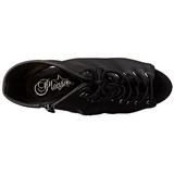 Black Matte 15,5 cm DELIGHT-1016 Open Toe Platform Ankle Calf Boots