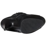 Black Matte 15 cm DELIGHT-1033 Open Toe Platform Ankle Calf Boots