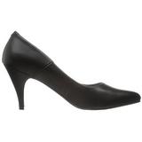 Black Matte 7,5 cm PUMP-420 Low Heeled Classic Pumps Shoes