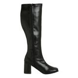 Black Matte 8,5 cm GOGO-300 High Heeled Womens Boots for Men