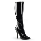 Black Patent 13 cm Pleaser SEDUCE-2000 Women Knee Boots
