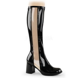 Black Patent 7,5 cm Funtasma GOGO-303 Women Knee Boots