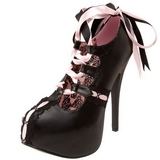 Black Pink 14,5 cm Burlesque TEEZE-13 Womens Shoes with High Heels