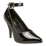 Black Shiny 10,5 cm DREAM-431 High Heel Pumps for Men