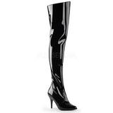 Black Shiny 10,5 cm VANITY-3010 High Heeled Overknee Boots