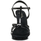 Black Shiny 12 cm FLAIR-420 Womens High Heel Sandals