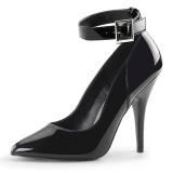 Black Shiny 13 cm SEDUCE-431 Stiletto Pumps for Men