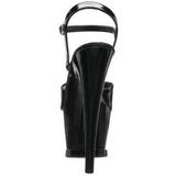 Black Shiny 18 cm Pleaser MOON-709 High Heels Platform