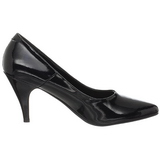 Black Shiny 7,5 cm PUMP-420 Low Heeled Classic Pumps Shoes