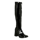 Black Shiny 8,5 cm GOGO-300 High Heeled Womens Boots for Men