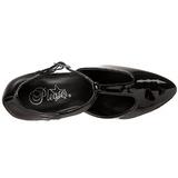 Black Shiny 8 cm DIVINE-415W High Heel Pumps for Men