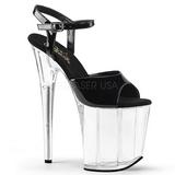 Black Transparent 20 cm FLAMINGO-809 High Heels Platform