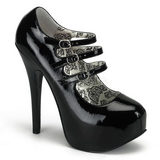 Black Varnish 14,5 cm TEEZE-05 Womens Shoes with High Heels