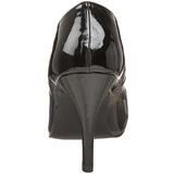 Black Varnished 10 cm DREAM-420 high heel pumps classic