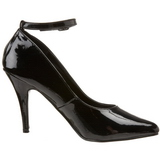 Black Varnished 10 cm VANITY-431 Pumps with low heels