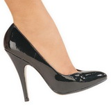 Black Varnished 13 cm SEDUCE-420V Women Pumps Shoes Flat Heels
