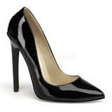 Black Varnished 13 cm SEXY-20 pointed toe stiletto pumps