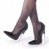 Black Varnished 15 cm SCREAM-01 Women Pumps Shoes Stiletto Heels