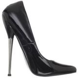 Black Varnished 16 cm DAGGER-01 Women Pumps Shoes Stiletto Heels