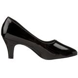 Black Varnished 8 cm DIVINE-420W Pumps with low heels