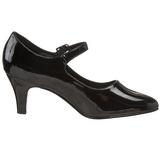 Black Varnished 8 cm DIVINE-440 Pumps with low heels