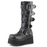Black Vegan 8,5 cm TRASHVILLE-518 demonia boots - unisex platform boots