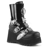 Black Vegan 9 cm SCENE-51 lolita ankle boots platform
