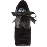 Black Velvet 14,5 cm Burlesque TEEZE-16 Womens Shoes with High Heels