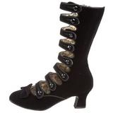 Black Velvet 6,5 cm BORDELLO WHIMSEY-115 Ankle Calf Boots