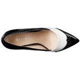 Black White 13 cm AMUSE-26 Womens Shoes with High Heels