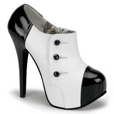 Black White 14,5 cm TEEZE-20 Womens Shoes with High Heels