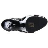 Black gladiator 15 cm DELIGHT-682 High Heeled Sandal Shoes