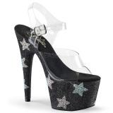 Black rhinestones 18 cm ADORE-708STAR Pole dancing high heels shoes