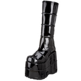 Blanka 18 cm STACK-301 Platå Goth Stövlar för Män