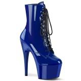 Blue Patent 18 cm ADORE-1020 womens platform ankle boots