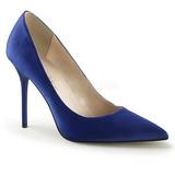 Blue Satin 10 cm CLASSIQUE-20 pointed toe stiletto pumps