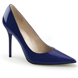 Blue Varnished 10 cm CLASSIQUE-20 pointed toe stiletto pumps