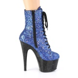 Blue glitter 18 cm Pleaser ADORE-1020MG Pole dancing ankle boots