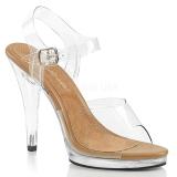 Brown 11,5 cm FLAIR-408 Womens High Heel Sandals