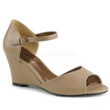Brown Leatherette 7,5 cm KIMBERLY-05 big size sandals womens